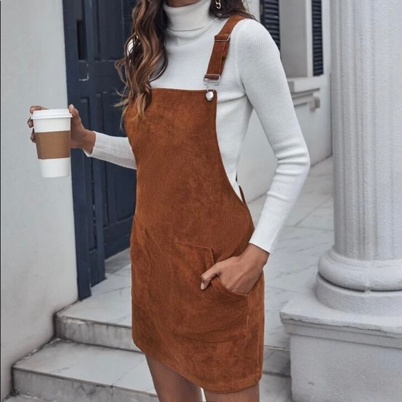Patch Pocket Cord Overalls